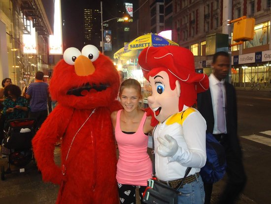 Times Square : Everybody likes to be photographed with colourful characters.
