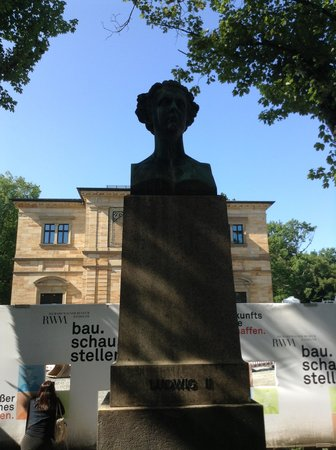 Richard Wagner Museum (Wahnfried): 壁穴から建物を見る