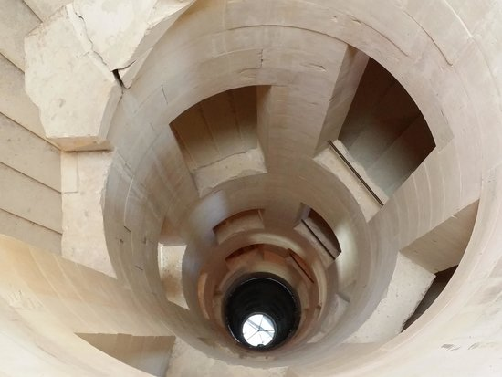 Chateau de Maulnes : stairs at Chateau Maulnes