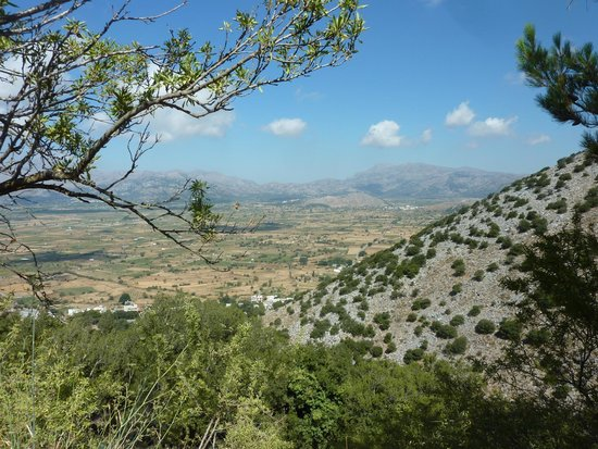 Safari Club Crete: View from the Caves of Zeus  - well worth the effort