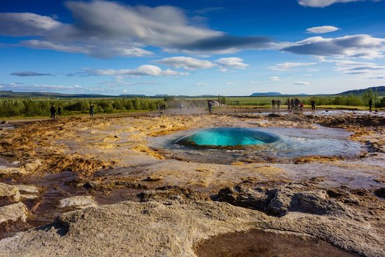 Geysir, Islandia: La bolla d'acqua