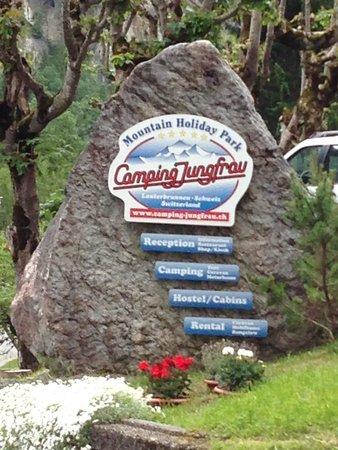 Camping Jungfrau: At the entrance