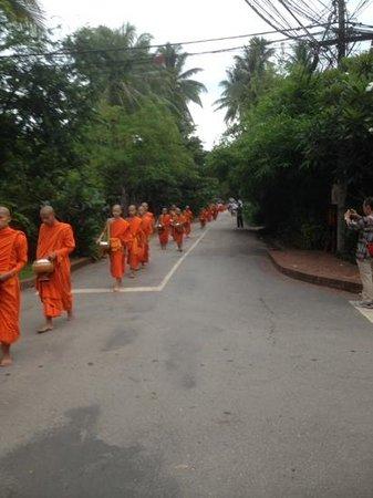 Old Quarter Luang Prabang : Morning Alms giving  luang Prabang