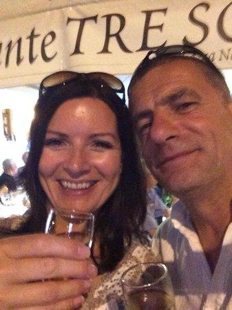 Bar Tre Scalini : Celebrating our Silver Wedding Anniversary at Ristorante Tre Scaleni on 26.08.14