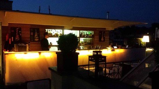 The First Luxury Art Hotel : Terrace bar
