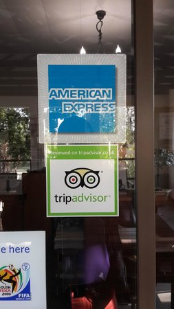 Dalberry Guest House : tripadvisor stamp at the reception