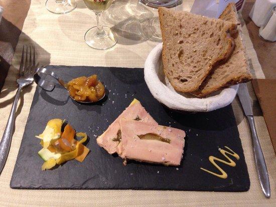 Le Bistrot de la Perle : Fois gras mi-cuit mirabelle