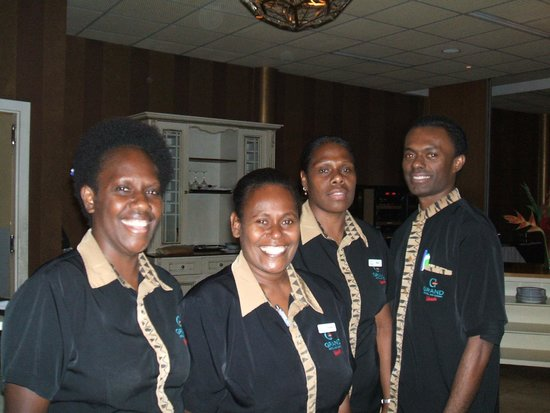 Grand Hotel And Casino: Dining room staff