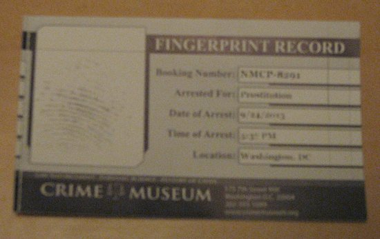 National Museum of Crime & Punishment : The crime card