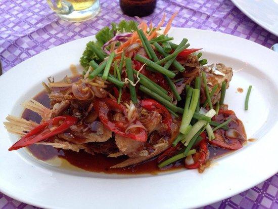 Ma-Now Restaurant: My crispy fish with lemongrass.