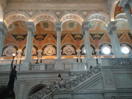 Library of Congress: Beautiful building, its wall, pillars, everything.