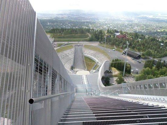 Schisprungschanze und Schimuseum am Holmenkollen: Vista dal trampolino