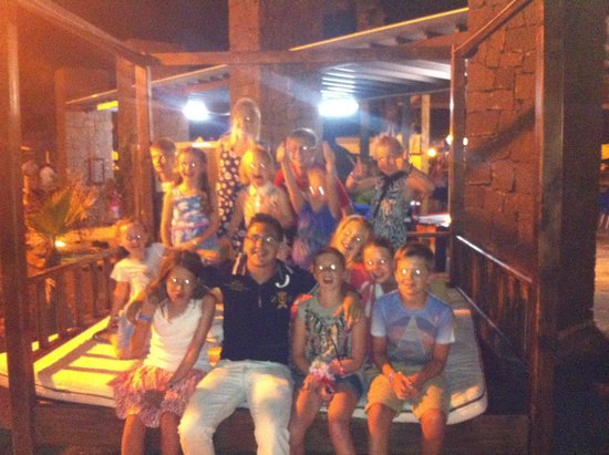 VIK Coral Beach : All the kids with their buddy Angelo