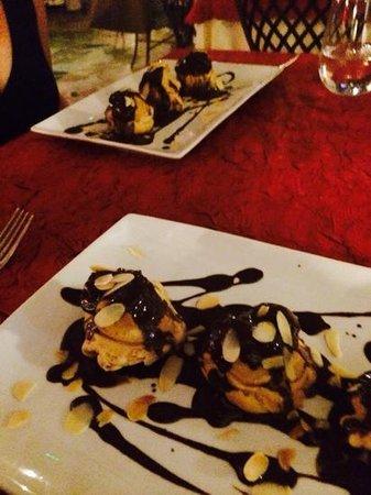 La Villa Restaurant : profiteroles