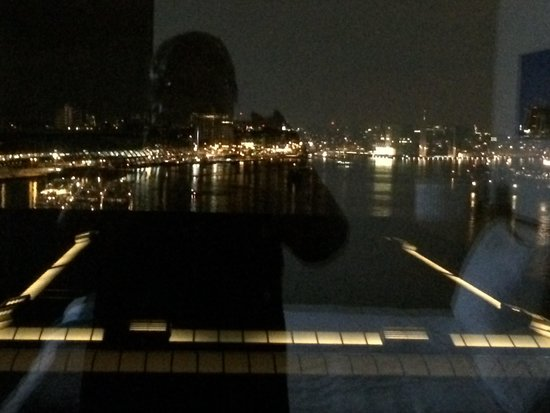 Movenpick Hotel Amsterdam City Center: View from the room, in front the lights are from the concert hall Muziekgebow.