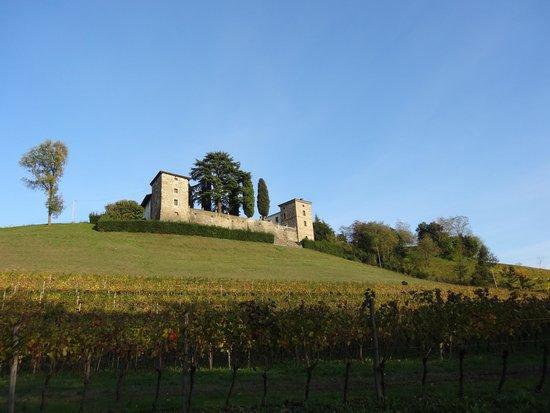 Dolegna del Collio, Ιταλία: Castello di Trussio mit Restaurant Aquila d'Oro