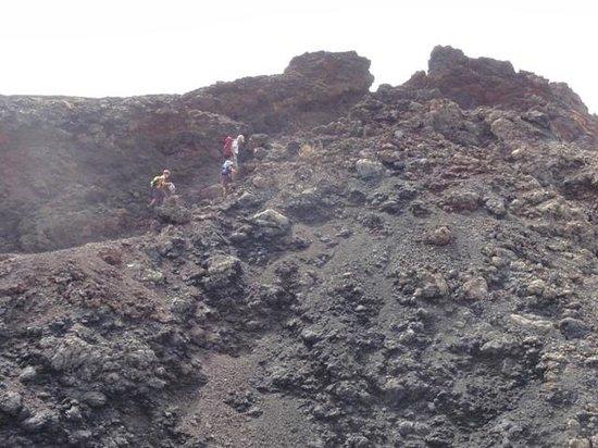 Volcán Teneguia: subiendo al Teneguia