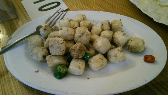 Salt and pepper tofu - I had started eating before I took the picture
