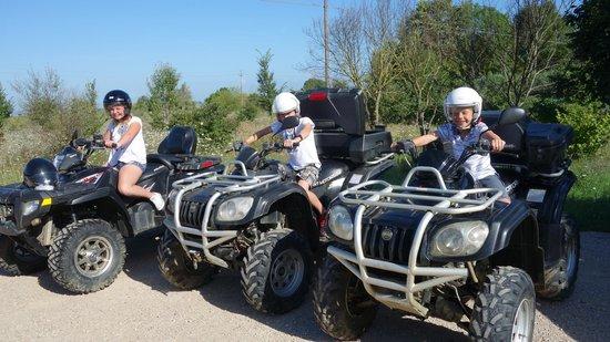 Umbria in Quad: Everybody having fun...