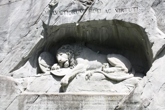 Monumento al león de Lucerna: The dying Lion