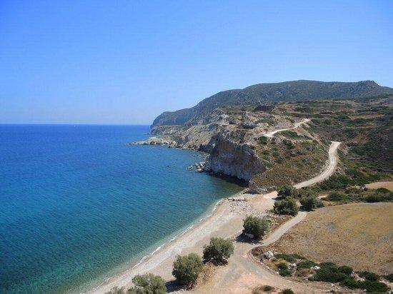 Milos, Grécia: Tria Pigadia Beach