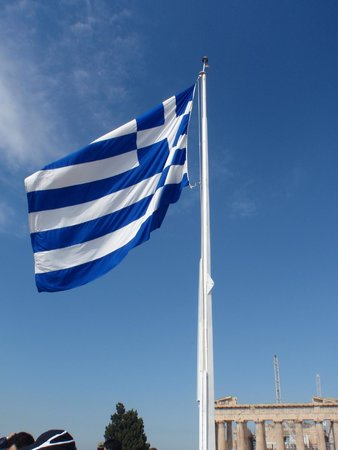 Private Greece Tours: The Greek flag
