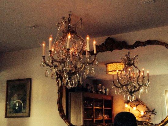 Bramble and Brine: Love the chandeliers