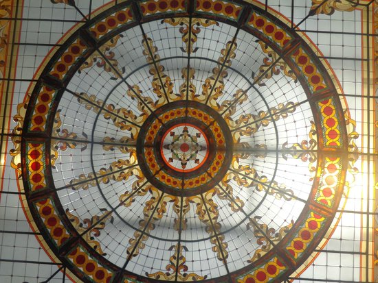 The Royal Playa del Carmen: stained glass at the entrance