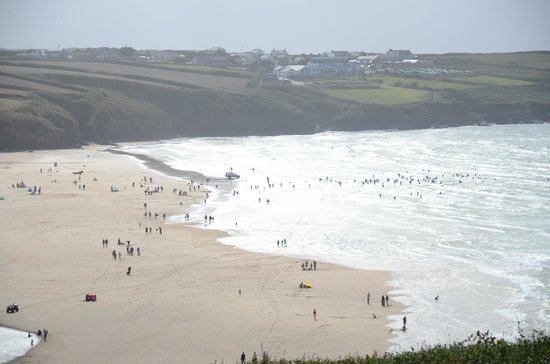 View of Fistral Beach from the Stables balcony.