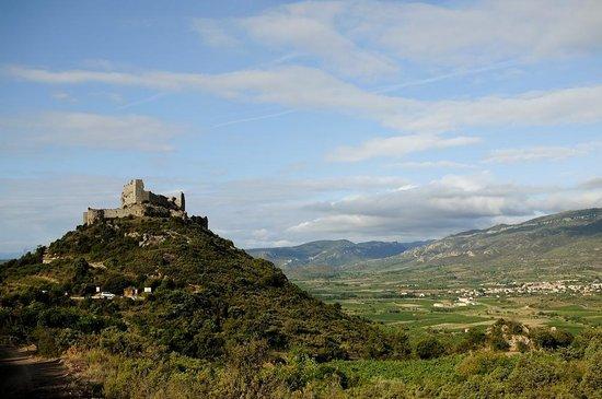Château d'Aguilar, a 15 min drive from Paziols