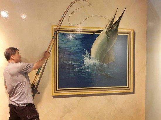 Trick Art Museum Korea: Seperti memancing ikan beneran, tempat ini sangat bagus untuk dikunjungi, sangat banyak obyek fo