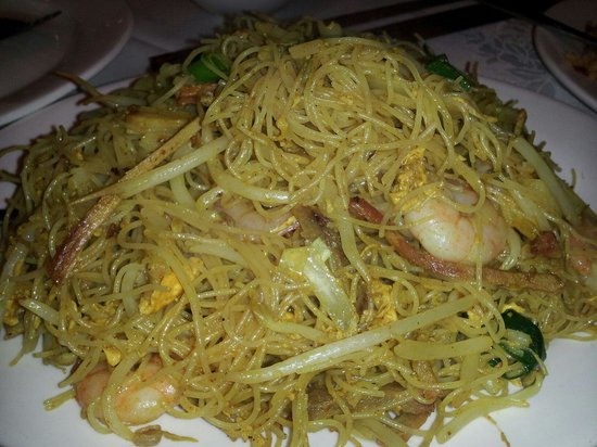 how to cook singapore rice noodles