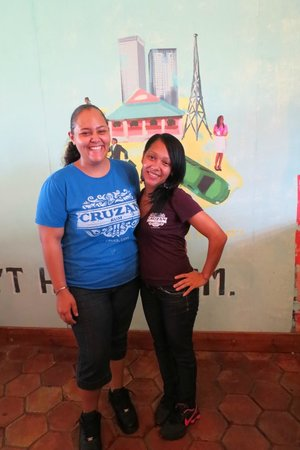 Cruzan Rum Distillery: Yashira and Leilani--guides par excellence!