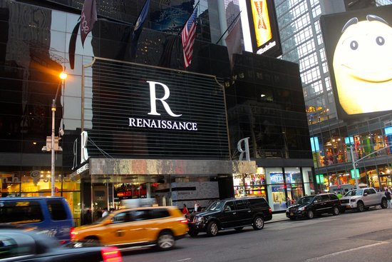 Renaissance New York Times Square Hotel: From across 7th avenue