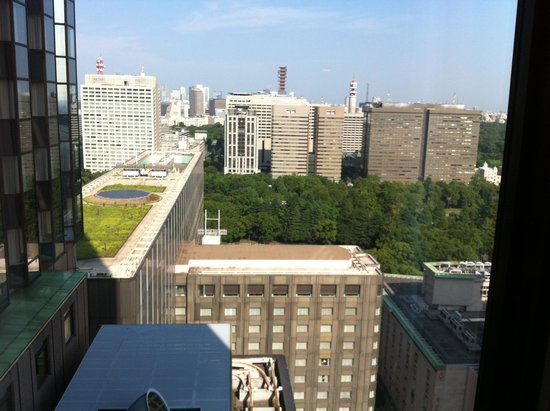 Imperial Hotel Tokyo: view from my room