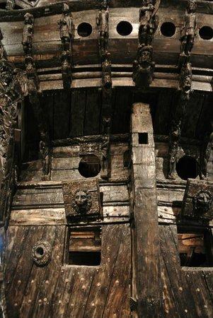Musée Vasa : Heck des Schiffs