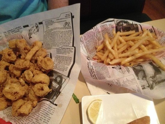 Close Harbour Seafood: Fried Calamari and Fries