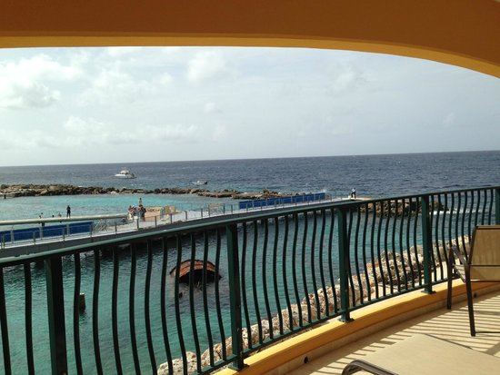 The Royal Sea Aquarium Resort: View from our Balcony- Sea Aquarium & Sunrise