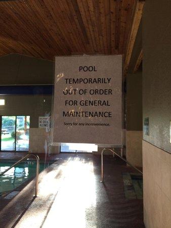LaQuinta Inn & Suites Boone : pool closed