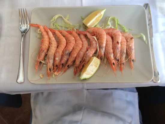Restaurante Palangreros: Fresh grilled prawns