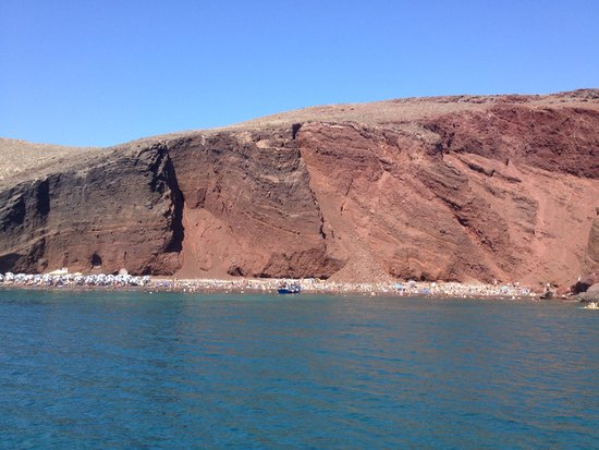 Sunset Oia Sailing - Day Tour: Red beach