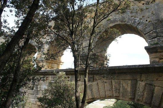 Pont du Gard : Detalle del acueducto