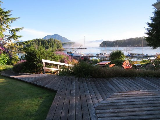 Tofino Swell Lodge: Harbour view from deck