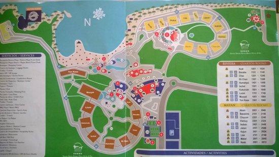 Map - Picture of Grand Sirenis Riviera Maya Resort & Spa, Akumal ...