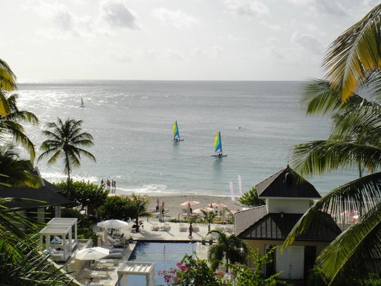 BodyHoliday Saint Lucia: view of the beach from the spa