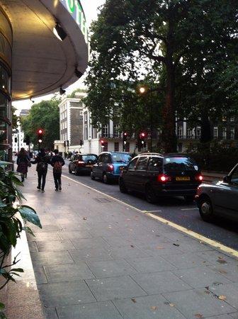 Tavistock Hotel: Afuera del hotel un parque enfrente
