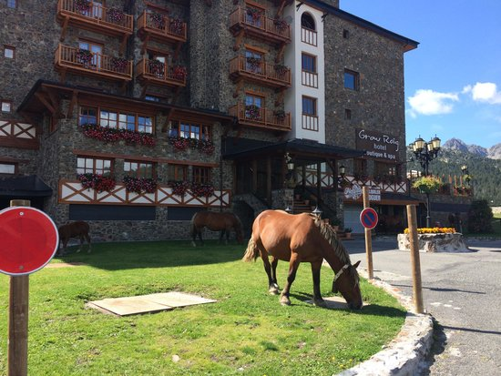 Grau Roig Andorra Boutique Hotel & Spa: Horses on the front of Grau Roig