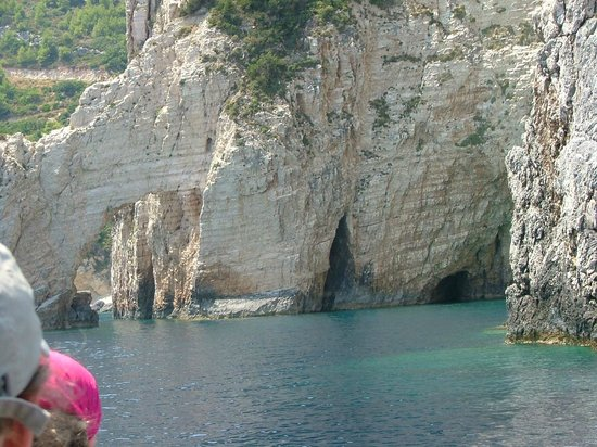 Blue Caves: clear water