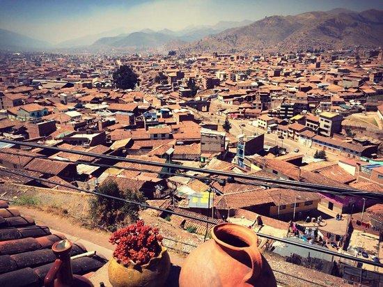 Piuray Hostal Cusco: The view from the balcony