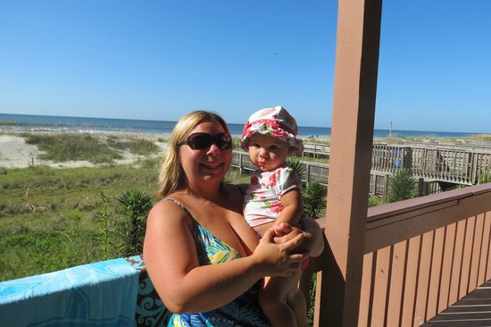 The Winds Resort Beach Club: My Daughter and I in front of room 103